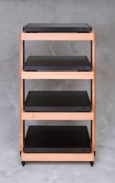 RXR Audio stand in light finish
